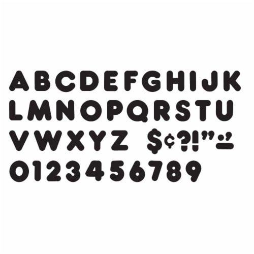 Trend Enterprises Casual Uppercase Ready Letters - Black Perspective: top
