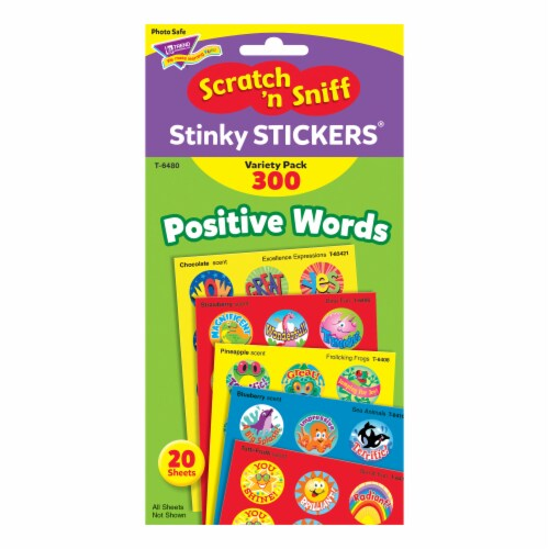 Trend Enterprises Positive Words Stinky Stickers Perspective: top
