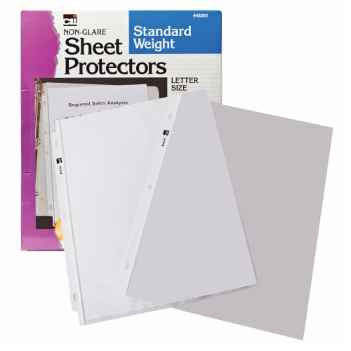 Charles Leonard Inc Letter Size Sheet Protectors Perspective: top
