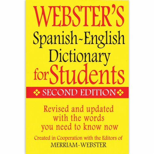 Webster's Second Edition Spanish-English Dictionary for Students Perspective: top
