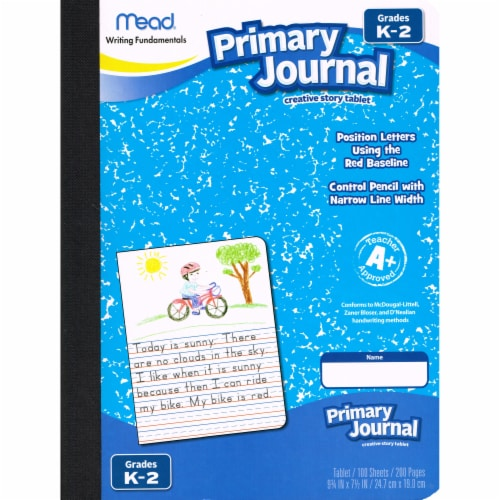 Mead® Primary Half Page Journal - 100 Sheets Perspective: top