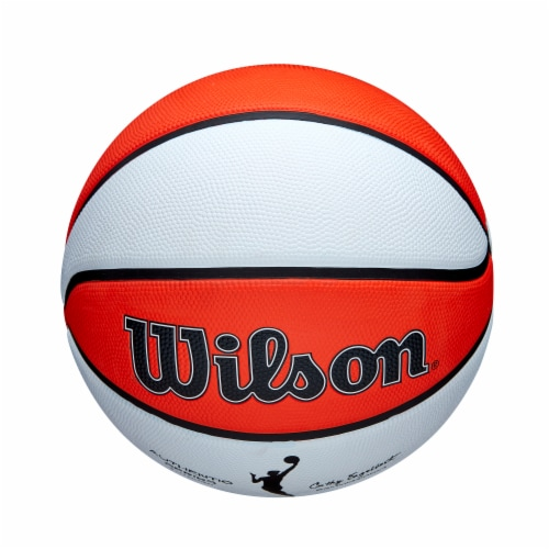 Wilson Sporting Goods WNBA Authentic Outdoor Official Women's Size Basketball - Orange/White Perspective: top