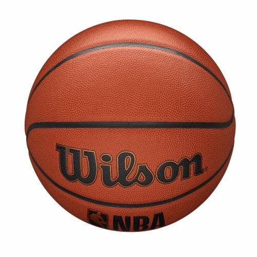 Wilson Sporting Goods NBA Forge Intermediate Size Basketball - Orange/Black Perspective: top