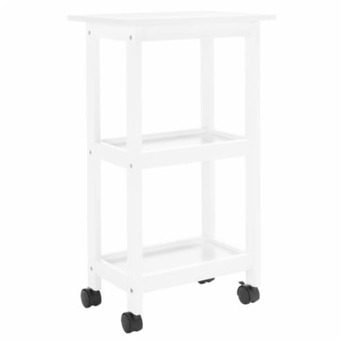 Bevin 2 Shelf Kitchen Cart White Perspective: top