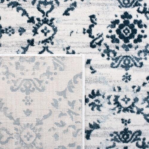Safavieh Martha Stewart Isabella Square Rug - Navy/Ivory Perspective: top
