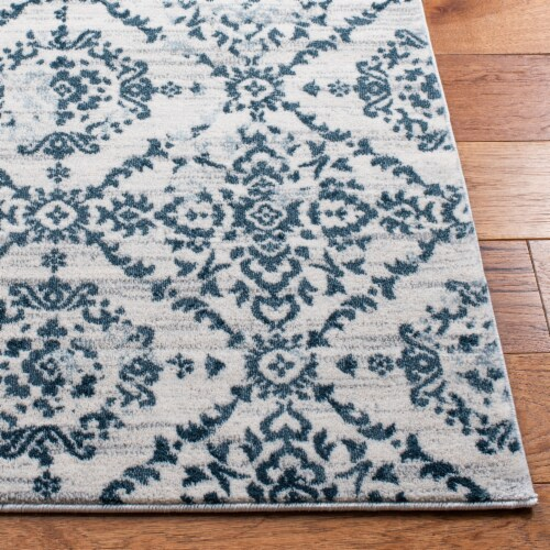 Safaveigh Martha Stewart Collection Isabella Area Rug - Navy/Ivory Perspective: top