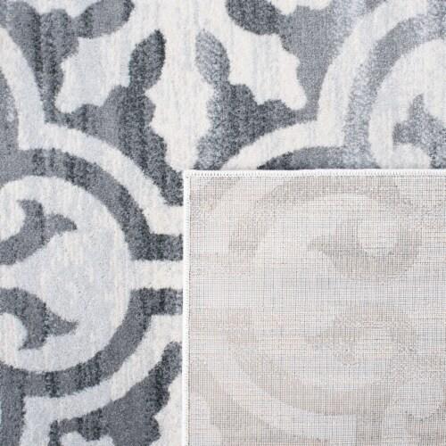 Safavieh Martha Stewart Isabella Round Rug - Gray/Ivory Perspective: top