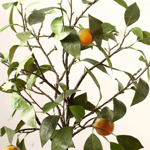 Faux Orange Potted Tree Perspective: top