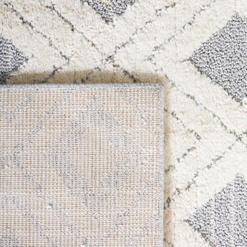 Safavieh Martha Stewart Lucia Shag Accent Rug - White/Light Gray Perspective: top