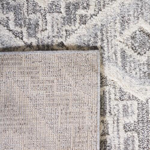 Safavieh Martha Stewart Lucia Shag Area Rug - Dark Gray/Light Gray Perspective: top