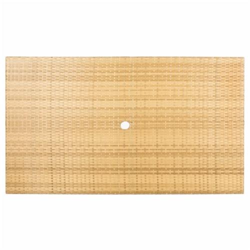Akita Folding Table Natural / White Perspective: top