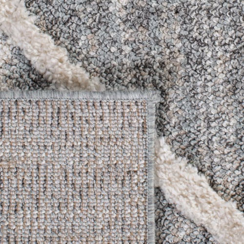 Safavieh Martha Stewart Lucia Shag Area Rug - White/Light Gray Perspective: top