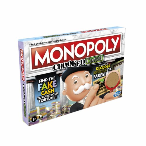 Hasbro Gaming Monopoly Crooked Cash Board Game Perspective: top