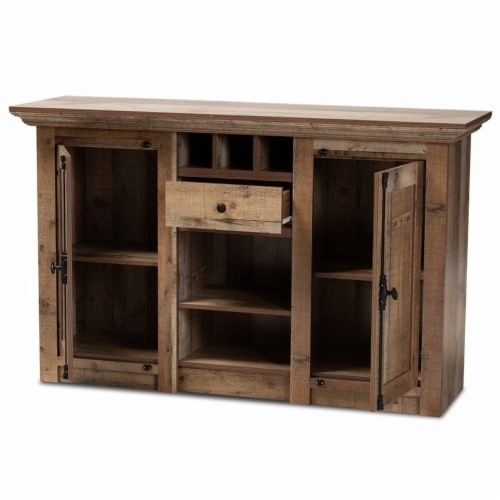 Bowery Hill Finished Wood 2-Door Dining Room Sideboard Buffet Perspective: top