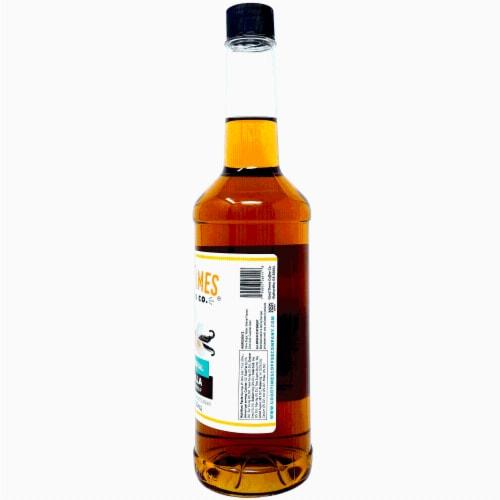 Vanilla Syrup, All Natural, Vegan, Gluten-Free, Non-GMO Cane Sugar (25.4 Fluid Ounce Bottle) Perspective: top
