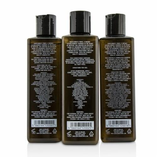 Gentlemen's Tonic Shower Gift Set: Gentle Body Wash 250ml + Daily Shampoo 250ml + Protein Con Perspective: top