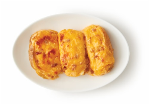 Home Chef Bacon & Cheddar Stuffed Baked Potatoes Perspective: top