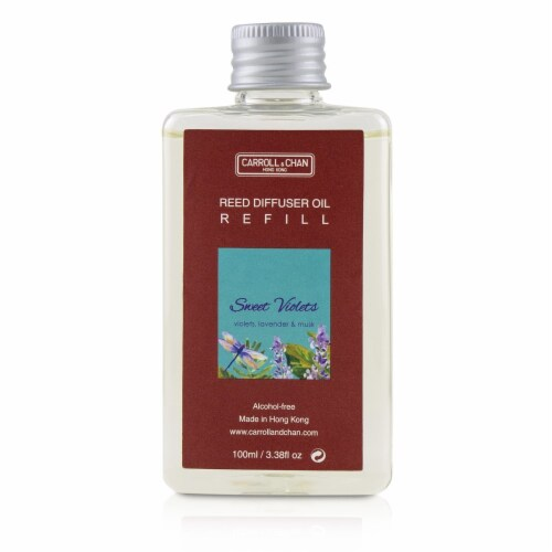 The Candle Company (Carroll & Chan) Reed Diffuser  Sweet Violets 100ml/3.38oz Perspective: top