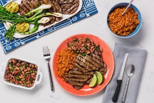 Rumba Meats Thin-Sliced Beef Ribeye Steak Perspective: top