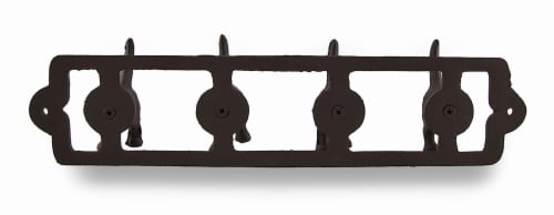 Rustic Finish Cast Iron Dog Tails Wall Hooks Perspective: top