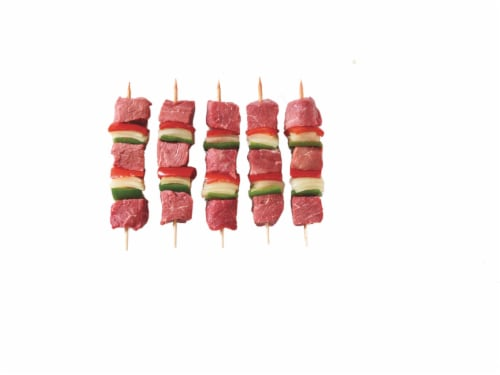 Home Chef Beef Kabobs with Onion & Bell Pepper Perspective: top