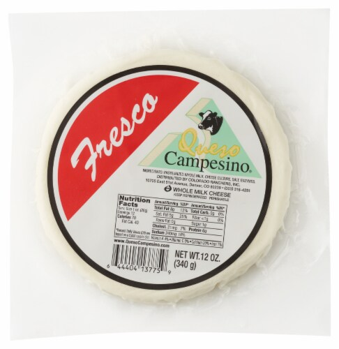 Queso Campesino Fresco Cheese Perspective: top