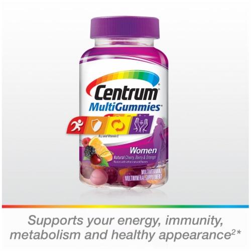 Centrum MultiGummies Women Natural Fruit Flavored Multivitamin & Multimineral Supplement Perspective: top