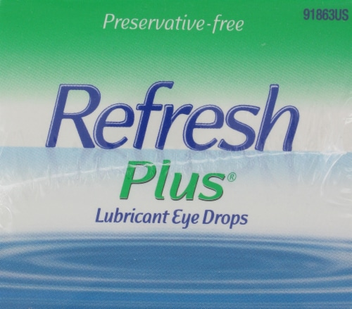 Refresh Plus Moisturizing Relief Lubricant Eye Drops Perspective: top
