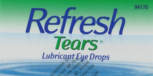 Refresh Tears Moisturizing Relief Lubricant Eye Drops Perspective: top