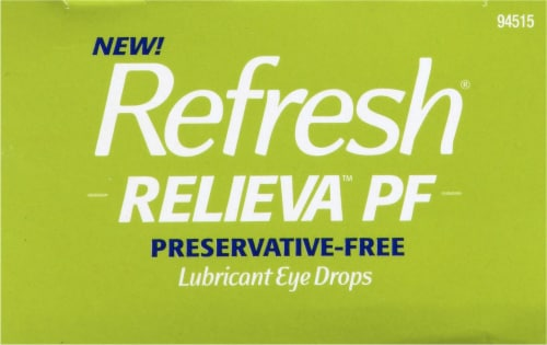Refresh Relieva PF Lubricant Eye Drop Vials Perspective: top