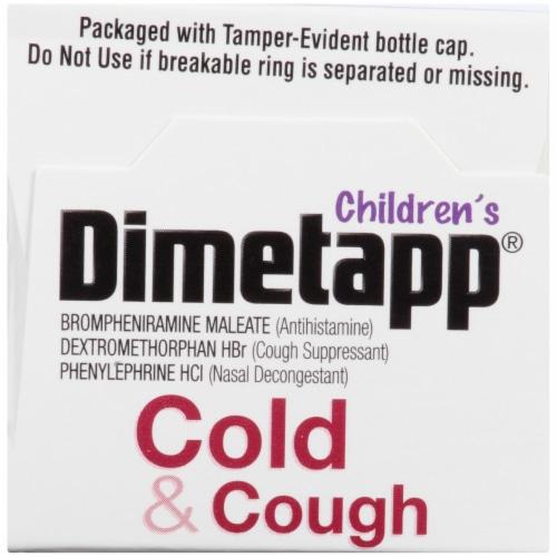 Dimetapp® Children's Grape Flavor Cold & Cough Liquid Medicine Perspective: top
