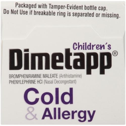 Dimetapp Children's Cold & Allergy Liquid Antihistamine & Decongestant Perspective: top