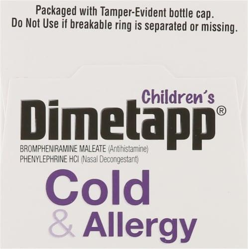 Dimetapp® Children's Grape Flavor Cold & Allergy Liquid Medicine Perspective: top
