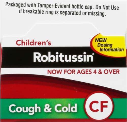 Robitussin Children's Cough & Cold Grape Flavored Medicine Perspective: top
