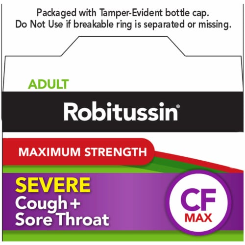 Robitussin Severe Cough plus Sore Throat CF Max Medicine Perspective: top