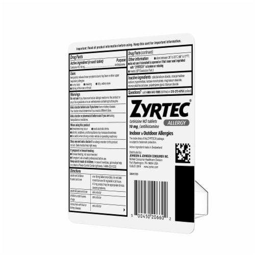 Zyrtec Indoor & Outdoor Allergy Relief Tablets 10mg Perspective: top