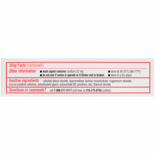 Sudafed 12-Hour Non-Drowsy Sinus Pressure + Pain + Congestion Relief Caplets Perspective: top