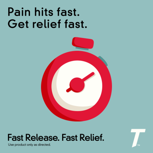 Tylenol Extra Strength Pain Reliever & Fever Reducer Rapid Release 500mg Gelcaps Perspective: top