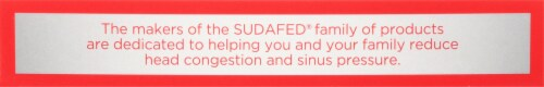 Sudafed PE Non-Drowsy Head Congestion + Mucus Tablets Perspective: top
