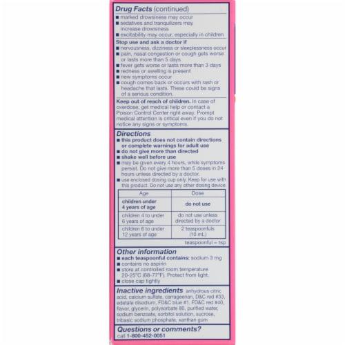 Triaminic Children's Grape Flavored Multi-Symptom Fever & Cold Liquid Medicine Perspective: top