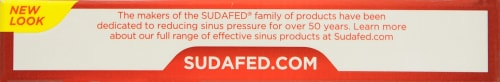 Sudafed 12 Hour Caplets Perspective: top