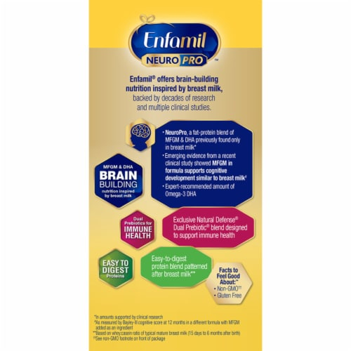 Enfamil NeuroPro Infant Powder Formula Perspective: top