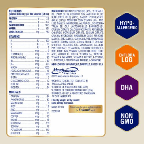 Enfamil Nutramigen Hypoallergenic Infant Formula Powder with Enflora LLG Perspective: top