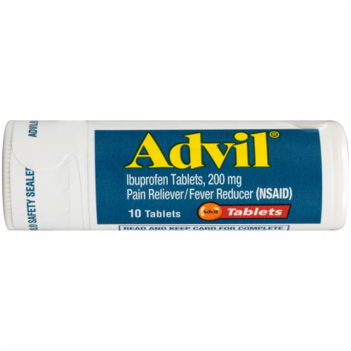 Advil Pocket Pack Pain Reliever/Fever Reducer Ibuprofen Tablets 200mg Perspective: top