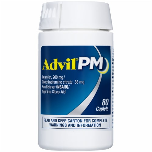 Advil® PM Pain Reliever/Nighttime Sleep Aid Perspective: top