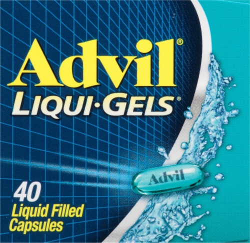 Advil Liqui-Gels Pain Reliever/Fever Reducer Liquid Filled Capsules 200mg Perspective: top