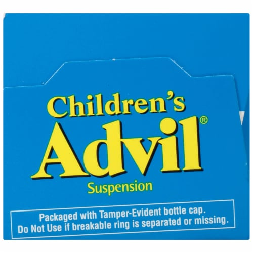 Advil Children's Berry-Flavored Pain Reliever Fever Reducer Liquid Suspension 100mg Perspective: top