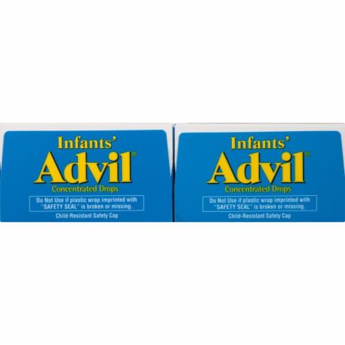 Advil Infants' Ibuprofen Oral Suspension White Grape Drops Twin Pack Perspective: top