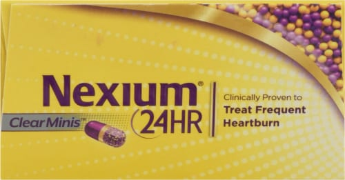 Nexium 24-Hour Delayed-Release Acid Reducer Clear Mini Capsules Perspective: top