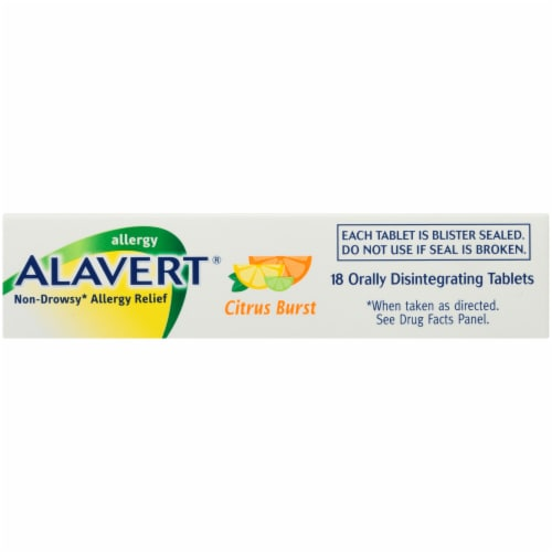 Alavert® Citrus Burst Non-Drowsy Allergy Relief Tablets Perspective: top